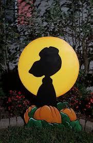 snoopy pumpkin carving ideas peanuts halloween yard art snoopy its the great pumpkin