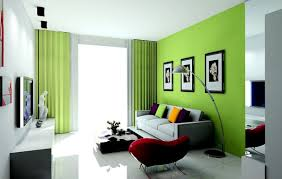 interior chic green interior with natural paint color scheme
