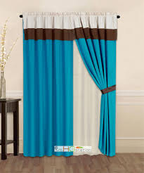 Curtains With Turquoise Turquoise Color Curtains