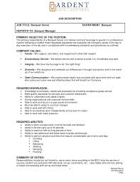 serving resume examples resume example and free resume maker