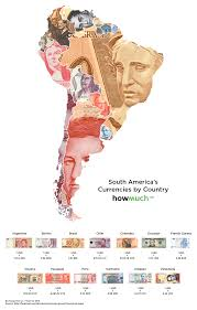 World Map South America by The World Map Of Currencies