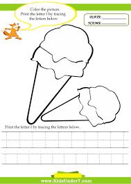 kids under 7 alphabet worksheets trace and print letter i