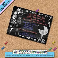 nightmare before christmas baby shower invitations disneyforever
