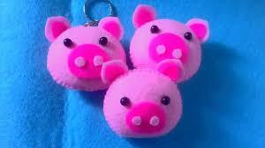 cara membuat gantungan kunci dari kain flanel bentuk kue tutorial flanel felt gantungan kunci pig piglet ala dj rangga