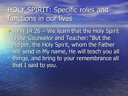 Holy Spirit My Comforter Holy Spirit The Following Discussion Is To Better Our