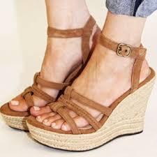 ugg sale wedges 62 ugg shoes ugg chestnut suede callia wedge sandal 10 nwt