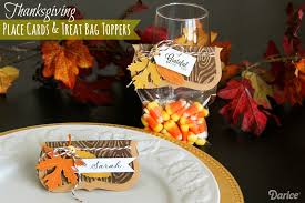 place card and treat bag diy for thanksgiving