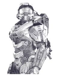 master chief pencil sketch 1 month of work hope you like halo