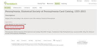 card catalog historical society of pennsylvania