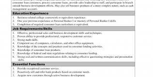 personal banker cover letter sample sample banking resumes in