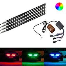 multi color led light bar amazon com ijdmtoy 4 piece 12 inches multi color rgb led knight