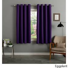 Pottery Barn Sailcloth Curtains by Aurora Home Grommet Top Thermal Insulated Blackout 64 Inch Curtain
