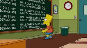 doesn t kick thanksgiving s bart s blackboard