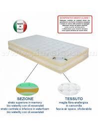 materasso bio materasso in memory e bio waterfoam oli essenziali sfoderabile 120x190