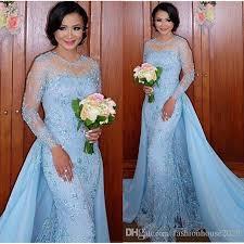 light blue long sleeve dress light blue long sleeve mermaid evening dresses appliques two piece
