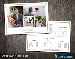 wedding price list wedding photography price list session