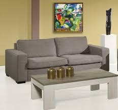 canapé fixe pas cher canapé fixe 3 places en tissu coloris marron clair windy canapé