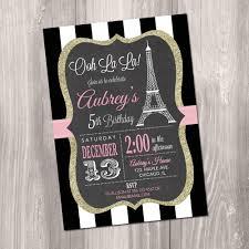 eiffel tower invitations birthday invitation printable invitation