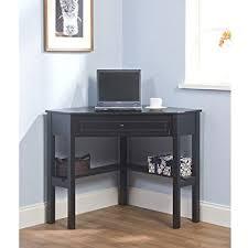 amazon com simple living black wood corner computer desk with