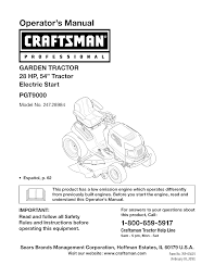 craftsman lawn mower pgt9000 user guide manualsonline com