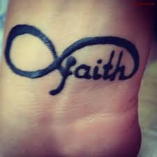 amazing infinity faith tattoo on wrist