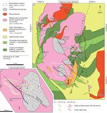 Southwest Canada Map by Genesis Of The Late Triassic Southwest Zone Breccia Hosted Alkalic