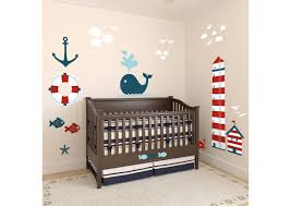 Sailboat Decor For Nursery Nautical Theme Nursery Height Chart Wall Decal Shop Fathead For