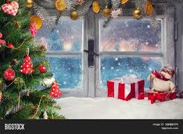 Christmas Decorations For Window Sills by Atmospheric Christmas Window Sill Image U0026 Photo Bigstock