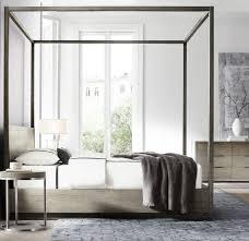 Bedroom Design Hardwood Floor Bedroom Wooden Canopy Bed White Matresses Brown Hardwood