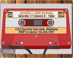 90s Theme Party Decorations Cassette Invitation Invitation Printable 90s Theme Party