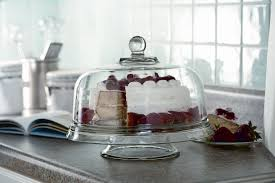 cake stand with cover essential home multi use glass cake stand shop your way online