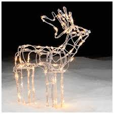 lighted reindeer lighted white wire standing deer decor shines at kmart