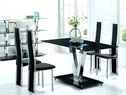 glass top dining table set 4 chairs glass top table and chairs set dining room contemporary round glass