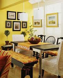 Curtains For Yellow Living Room Decor 25 Ideas For Dining Room Decorating In Yelow And Green Colors
