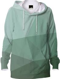 cool green geometry hoodie abstract geometric design from print