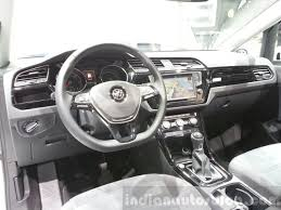 white volkswagen inside vw touran dashboard at the 2015 geneva motor show indian autos blog
