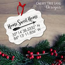 home coordinates ornament personalized christmas ornament