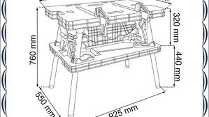 Keter Folding Work Table Bench Mate With 2 Clamps Folding Work Table Us General Folding Clamping Workbench Unbox