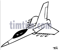 free drawing of a jet fighter plane bw2 from the category trains