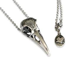 Engraved Necklaces Amazon Com Engraved Raven Skull Pendant Necklace Bronze Jewelry