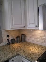 beveled white subway tile kitchen affordable backsplash in off