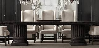 Restoration Hardware Dining Room Chairs Architectural Column Salvaged Wood Dining Table Restoration