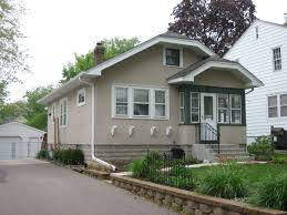 our green stucco bungalow bungalow style pinterest