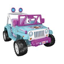power wheels disney frozen jeep wrangler 12 volt ride on toys