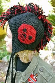 crochet hair mohawk pattern crochet patterns galore mohawk hat