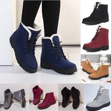 womens winter boots womens flat ankle boots ebay