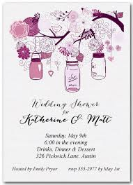 wedding shower invitations tree of purple jars wedding shower invitations