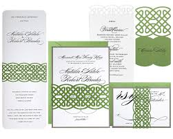 celtic knot menu cards timeless paper