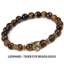 charm bracelet with beads images Natural stone bead charm bracelet owl leopard lion designs a jpg