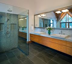 shower tile floor bathroom contemporary with architecture